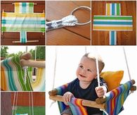 How to make a canvas hammock baby swing