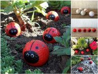 How to make diy golfball ladybugs