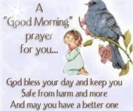 A Good Morning Prayer for You