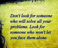 Look for someone who
