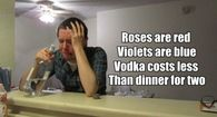 Vodka cost less dinner for two