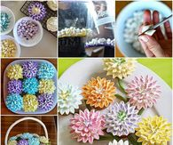 How to make marshmallow flowers