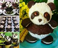 How to make panda cupcakes