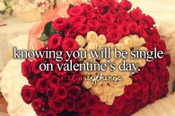 Know you will be single on valentines day