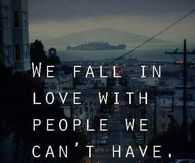 We fall in love
