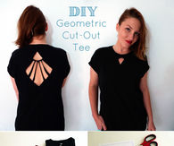 DIY Geometric Cut Out Tee