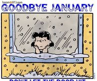 Goodbye January Don't let the door hit you