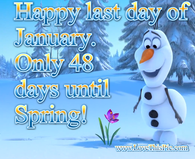 Olaf Last Day Of January Quote