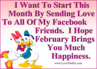 Happy February Facebook Friends