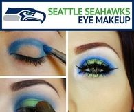 Seattle Seahawks Eye makeup