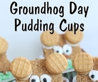Groundhogs Day Pudding Cups