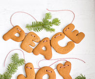 How to make gingerbread letter garlands