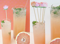 DIY Grapefruit Mojitos