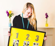 DIY Photo Strip Seating Plan