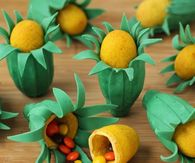 How to make ear of corn pinata cookies