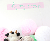 How to make toy storage crates