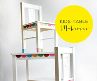 How to makeover a kids table