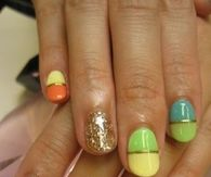 Brightly Colored Nails