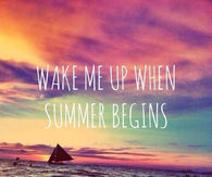 Wake Me Up When Summer Begins