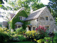 English Cottage with Ivy, Bird Niches and Surrounded by an English Garden
