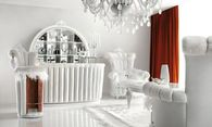 Luxurious All White In-Home Cocktail Bar