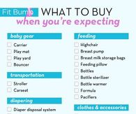 What to buy when you're expecting