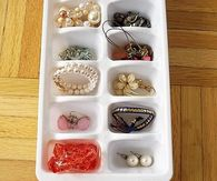 Ice Tray Jewelry Organization
