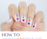 Summer Block Nails Tutorial