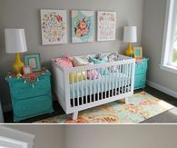 Nursery with colorful accents