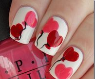 Balloon Heart Nails