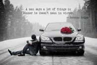 what a man says in winter