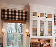 Cute window seat in Country Kitchen