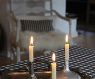 Candle Holders Made From Recycled Oil Cans & Funnels