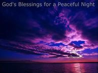 God's Blessings for a Peaceful Night