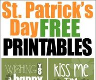 ST Patrick;s Day Printables