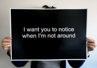 I want you to notice