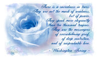 There is a sacredness in tears.....