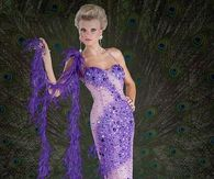 Purple Peacock Gown