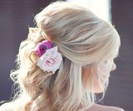 Flower Wedding Hairstyle
