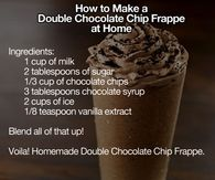 DIY Double Chocolate Chip Frappe
