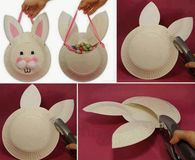 DIY Paper Plate Bunny Mask