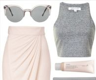Pink and Gray Spring Fashion