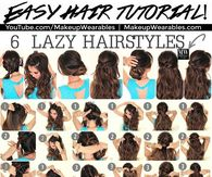 6 Lazy Hairstyles