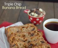 Triple chip banana bread