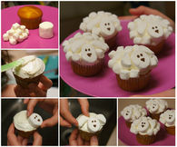 Marshmallow Sheep Cupcakes