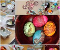 DIY Napkin Egg Dying