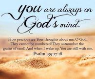 you are always on God's mind