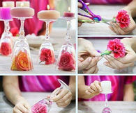 Flower Glass Candles