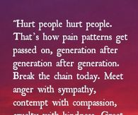Break the chain of hurt