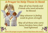 A prayer for those in need